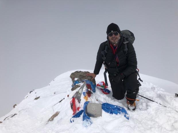 Tomasz Domalewski na Elbrusie.