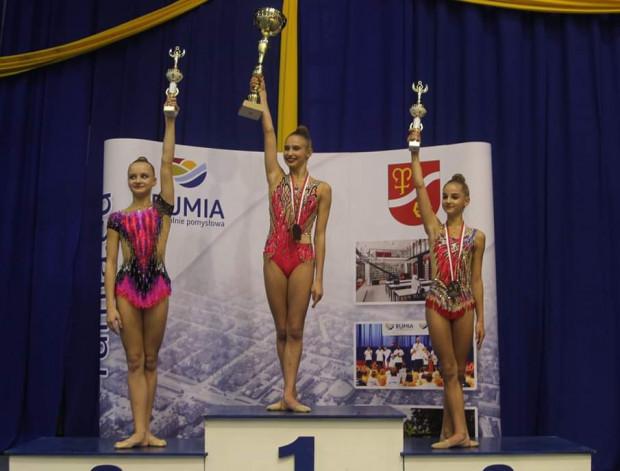 Najlepsze juniorki w wieloboju Pucharu Polski 2018. Na pierwszym i trzecim miejscu gdynianki.