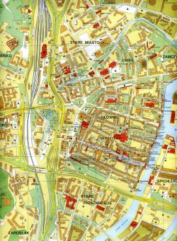 Niezorientowani niech spojrzą na mapę. Gdzie się kończy Stare, a zaczyna Główne Miasto?