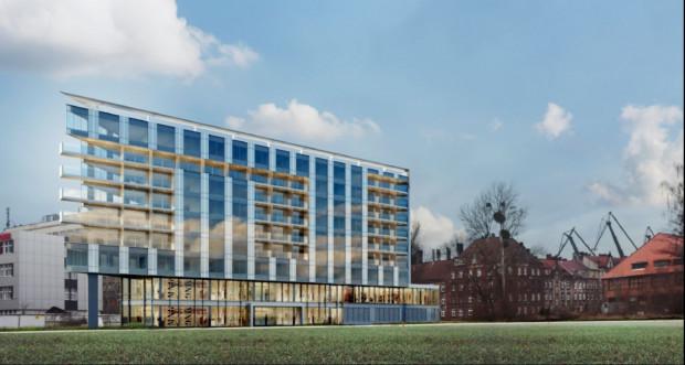 Wizualizacja budynku RWS, który miałby stanąć przy ul. Jaracza.