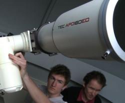 Podczas zajęć z astronomii w GSA.