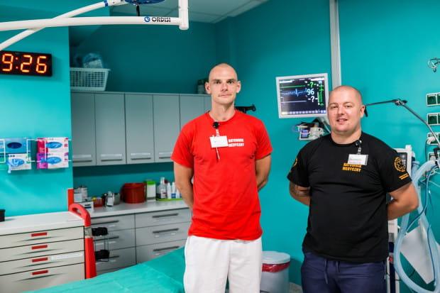 Bartosz Krasiński i Łukasz Wrycz-Rekowski - autorzy projektu AID Copernicus. W codziennych działaniach wspiera ich również Katarzyna Brożek - rzeczniczka spółki Copernicus PL.