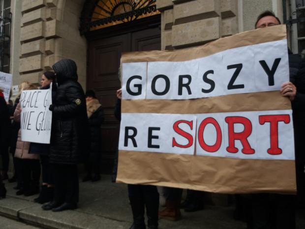 Pracownicy sądów protestowali od 10 grudnia.