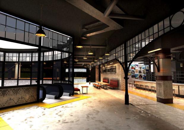 Tak będzie wyglądało wnętrze strefy gastronomicznej w Galerii Metropolia.