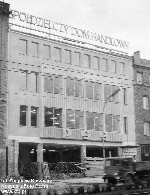 Przebudowa Spółdzielczego Domu Handlowego, zdjęcie wykonane w listopadzie 1961 roku.