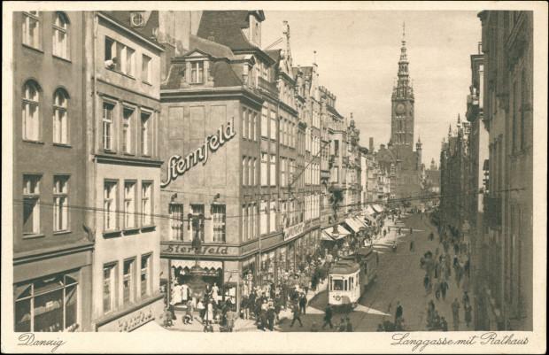 Słynny Dom Handlowy Nathana Sternfelda na Głównym Mieście, 1933 r. Ze zbiorów Krzysztofa Gryndera.
