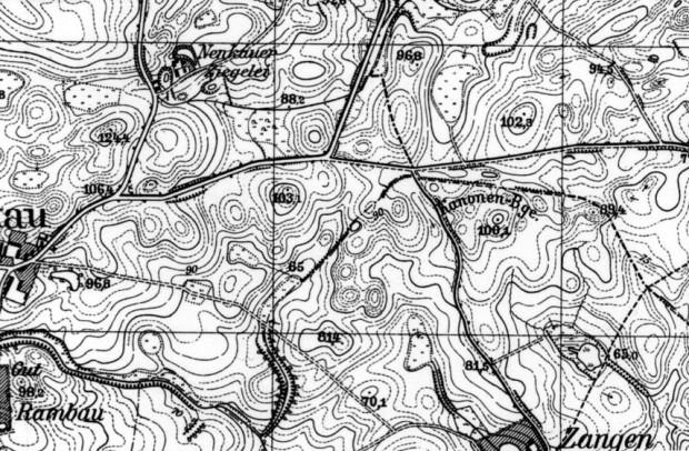 Południe na mapie sprzed ponad 75 lat.
