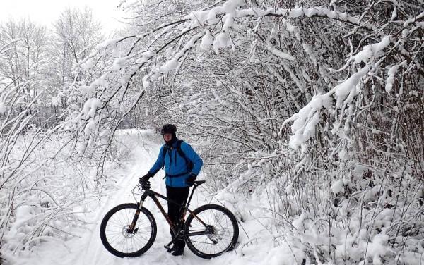 Migawki z zimowej wycieczki szlakiem rowerowym w Gminie Stężyca