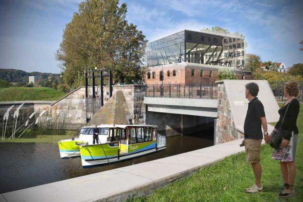 Stateczki, kajaki czy tramwaje wodne - to jedna z propozycji, którą zaproponowali uczestnicy ubiegłorocznego konkursu dla Dolnego Miasta.