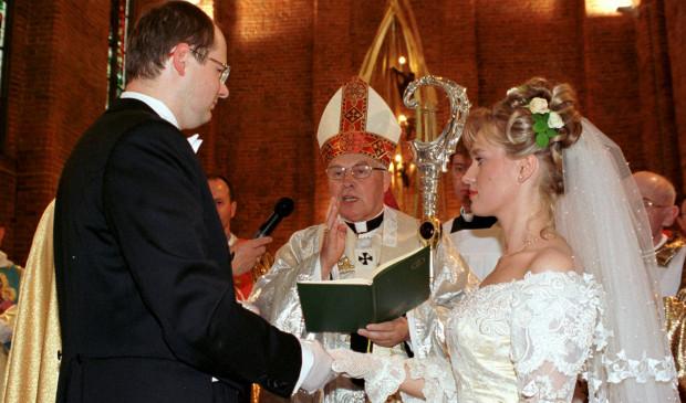 Ślub Pawła Adamowicza z Magdaleną Abramską.