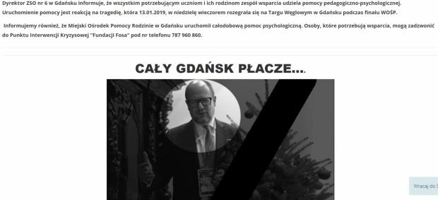 Informację na temat dodatkowej pomocy psychologicznej zamieściło na swoich stronach internetowych wiele szkół, w tym ZSO nr 6 w Gdańsku.