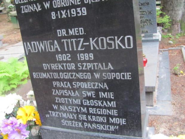 Wspólny grób Janiny Titz-Kosko i jej męża Stanisława Kosko na Cmentarzu Witomińskim w Gdyni.