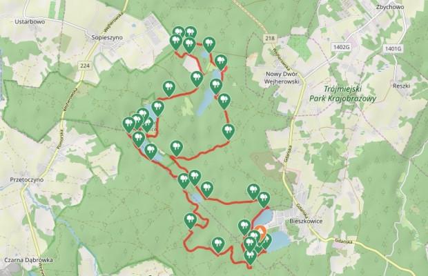 Kliknij na mapę i zapoznaj się z przebiegiem naszej trasy / ściągnij ślad GPS