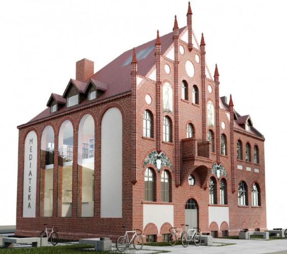 Wstępna koncepcja adaptacji budynku dawnego ratusza i komisariatu przy ul. Gościnnej 1.