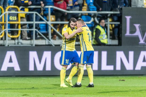 Łączna wartość Luki Zarandii (z lewej) - 650 tys. euro i Michała Nalepy (z prawej) - 450 tys. to 1/6 całkowitej wyceny piłkarzy Arki Gdynia.