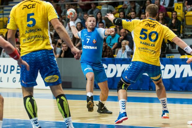 Dawid Przysiek zdobył w sobotnim meczu niemal połowę bramek dla Arki Gdynia.
