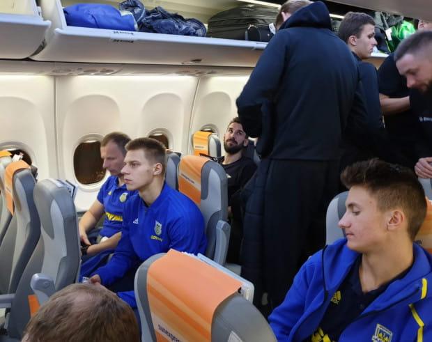 Piłkarze Lechii i Arki lecieli jednym samolotem zarówno do Turcji jak i w drogę powrotną do Polski.