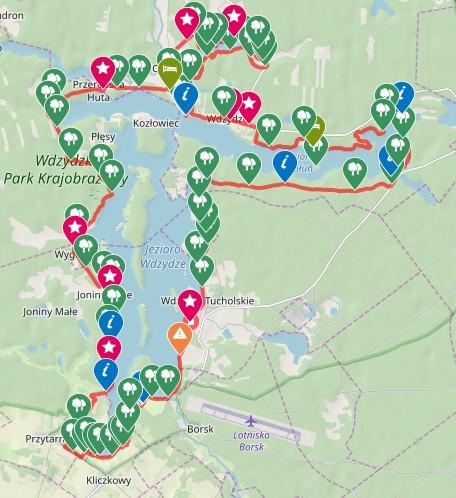 Kliknij na mapę i prześledź dokładny przebieg trasy / ściągnij ślad GPS