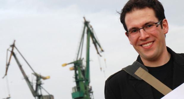 Obcokrajowcy kojarzą Trójmiasto przede wszystkim ze Stocznią Gdańską i historią. Na zdjęciu David Leon, Francuz mieszkający w Gdańsku od lutego.