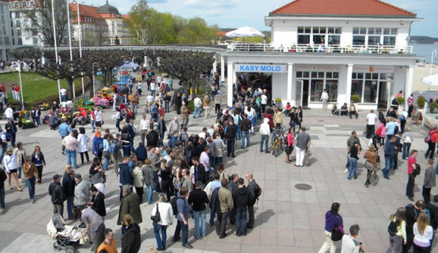 Sopot Ulica Artystów podczas ubiegłorocznej edycji. W ciągu kilku majowych dni Monciak jest pełen przeróżnych atrakcji.