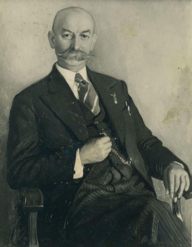 Jan Radtke - reprodukcja fotograficzna obrazu autorstwa Inger Borchsenius, lata 30. XX w. Ze zbiorów Muzeum Miasta Gdyni.