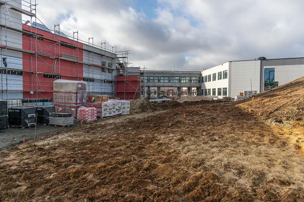 Budowa szkoły przy ul. Jabłoniowej w Gdańsku.
