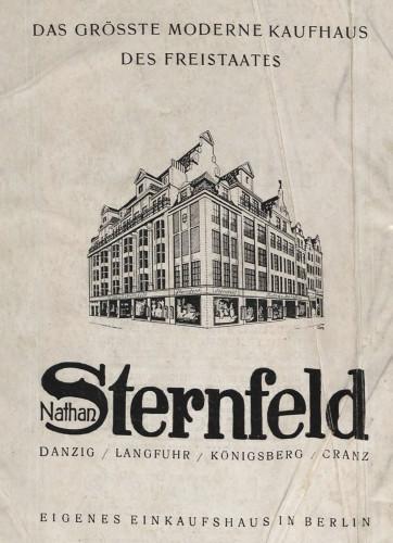 Reklama Domu Handlowego Nathana Sternfelda w Gdańsku, 1924 r. Ze zbiorów PAN Biblioteki Gdańskiej.
