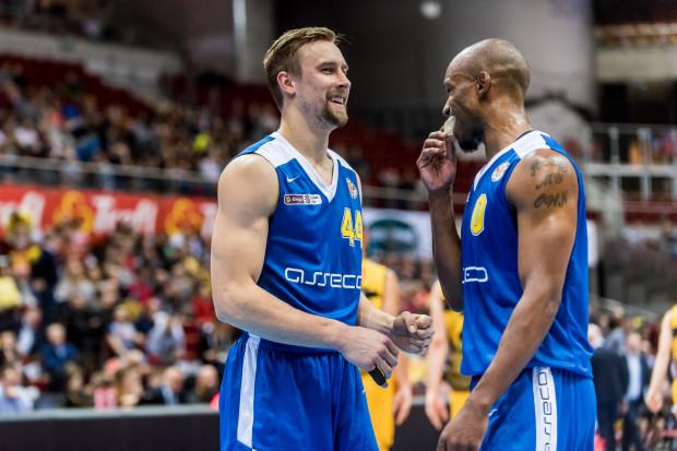 Deividas Dulkys (z lewej) oraz James Florence (z prawej) ponownie nie zawiedli i poprowadzili Arkę do finału Pucharu Polski.