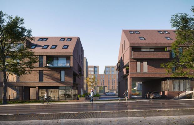 Koncepcja pracowni Rayss Szymański Architekci. Wyraźne przejście przez osiedle jest wymagane planem miejscowym.