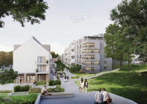 Różnice wysokości terenu wykorzystano do stworzenia trakcyjnych przestrzeni publicznych, które wykorzystywane będą także przez okolicznych mieszkańców.