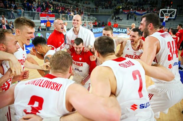 Radość reprezentantów Polski po awansie do mistrzostw świata 2019.