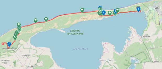 Kliknij na mapę i zobacz dokładny przebieg naszej trasy