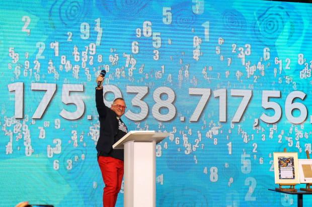 Jerzy Owsiak podsumował w Gdańsku tegoroczny finał WOŚP. Zebrano rekordowe prawie 176 mln zł.