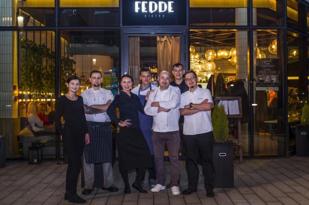Zespół odpowiedzialny za przygotowanie kolacji: Guest Chef VI z Kubą Winkowskim w Fedde Bistro.