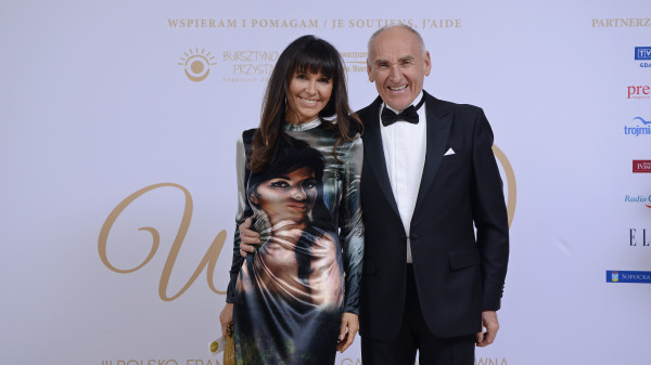 Czesław Lang z żoną