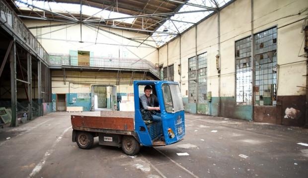 Jedną z atrakcji dnia otwartego w ECS będzie możliwość przejażdżki stoczniowym wózkiem akumulatorowym.