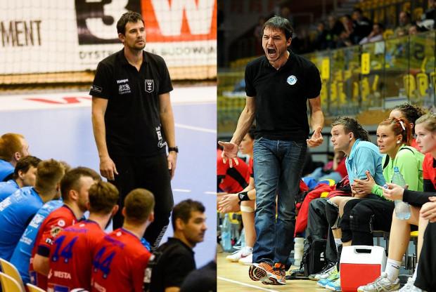 Thomas Orneborg (z prawej) w 2012 roku doprowadził szczypiornistki Vistalu Łączpolu Gdynia do mistrzostwa Polski. Teraz w Enerdze Wybrzeże Gdańsk będzie pracował z męskim zespołem w miejsce Marcina Lijewskiego (z lewej). Ma utrzymać go w Superlidze.