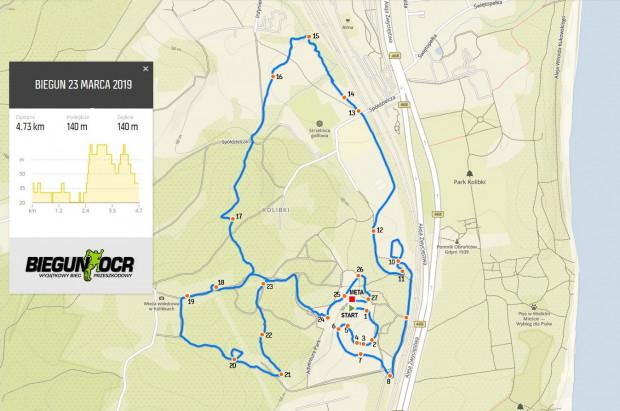 Trasa biegu wynosiła blisko 4 km.