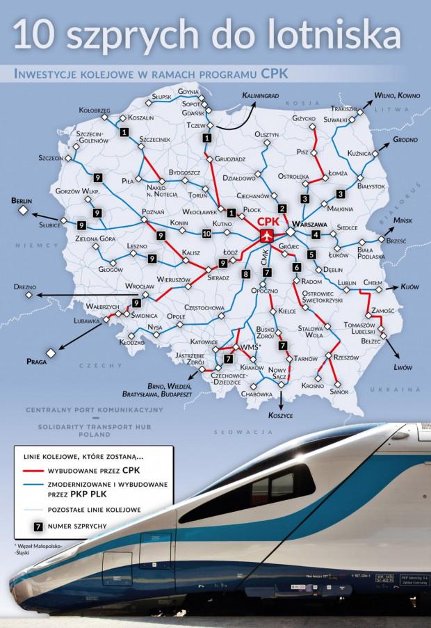 Oficjalne plany rozbudowy sieci połączeń kolejowych w Polsce, ogłoszone 25 marca 2019 roku.