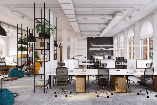 Przykładowa przestrzeń biurowa po remoncie