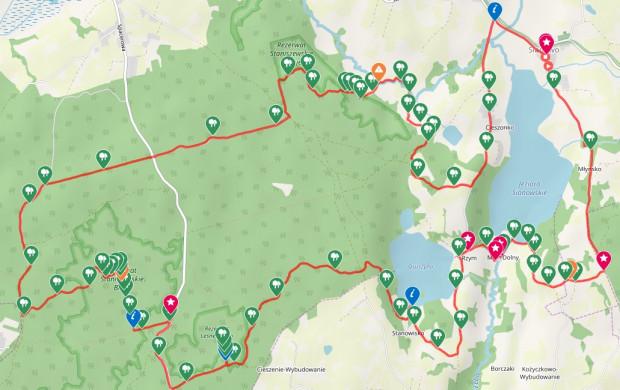 Kliknij na mapę i prześledź przebieg trasy