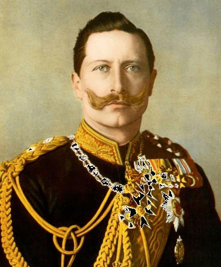 Cesarz Niemiec i król Prus Wilhelm II. Jego pasja do architektury miała wpływ na kształt budynków Politechniki Gdańskiej.