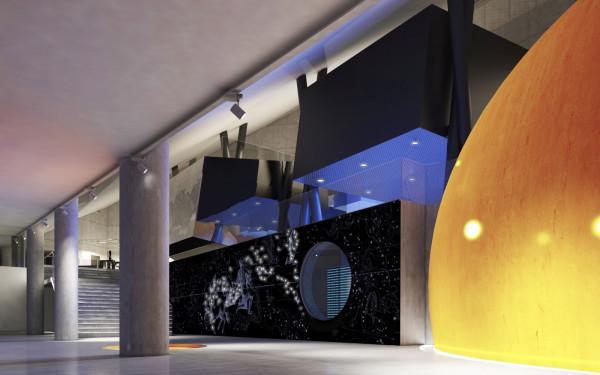 Planetarium będzie nowoczesnym budynkiem, w którego środku powstanie specjalna kopuła z obrazem nieba.