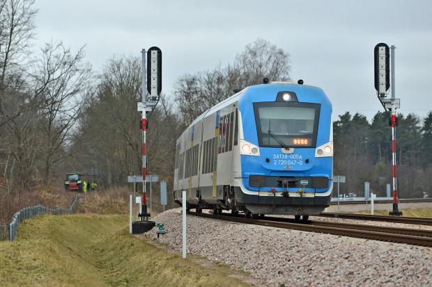 Miejsce, w którym linia 234 będzie odchodziła od linii PKM (248).