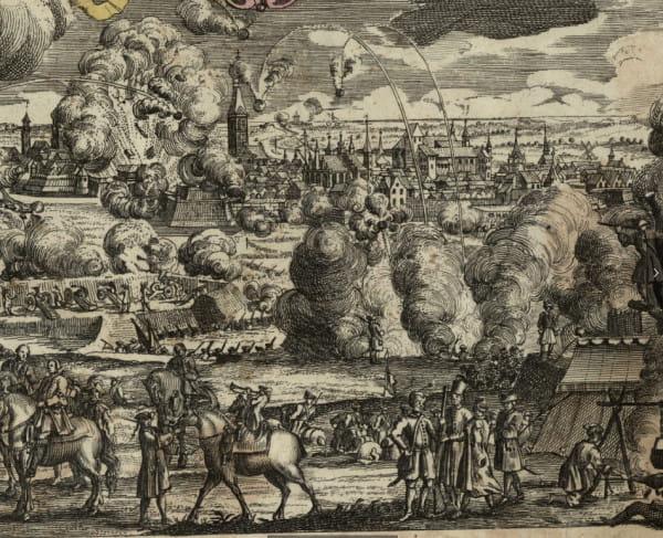 Panorama przedstawiająca oblężenie Gdańska przez armię rosyjską w 1734 r.