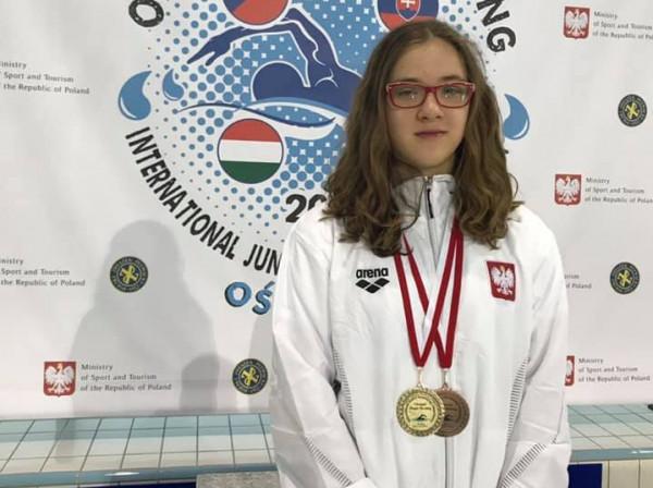 Zosia Chrzan przywiozła do Trójmiasta dwa medale i dwa rekordy Polski u14.