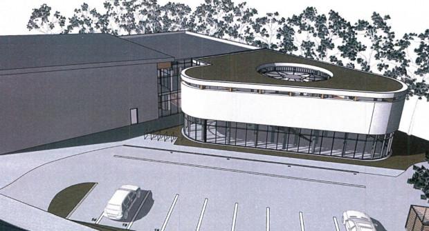 Wstępna wizualizacja nowej mediateki i parkingu