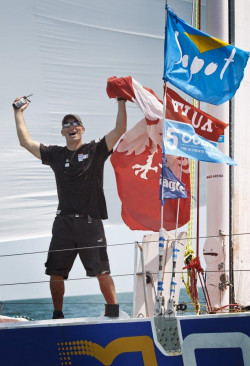 Zbigniew Gutkowski rozpoczął rejs w La Rochelle 17 października ubiegłego roku.