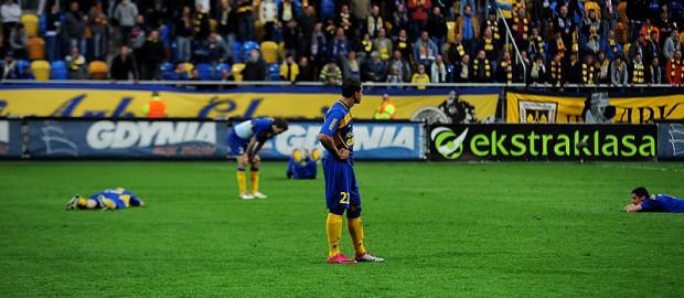 Gdynianie w kiepskim stylu opuścili Ekstraklasę.