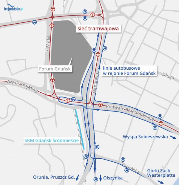 Oprotestowana siatka połączeń autobusowych w centrum Gdańska